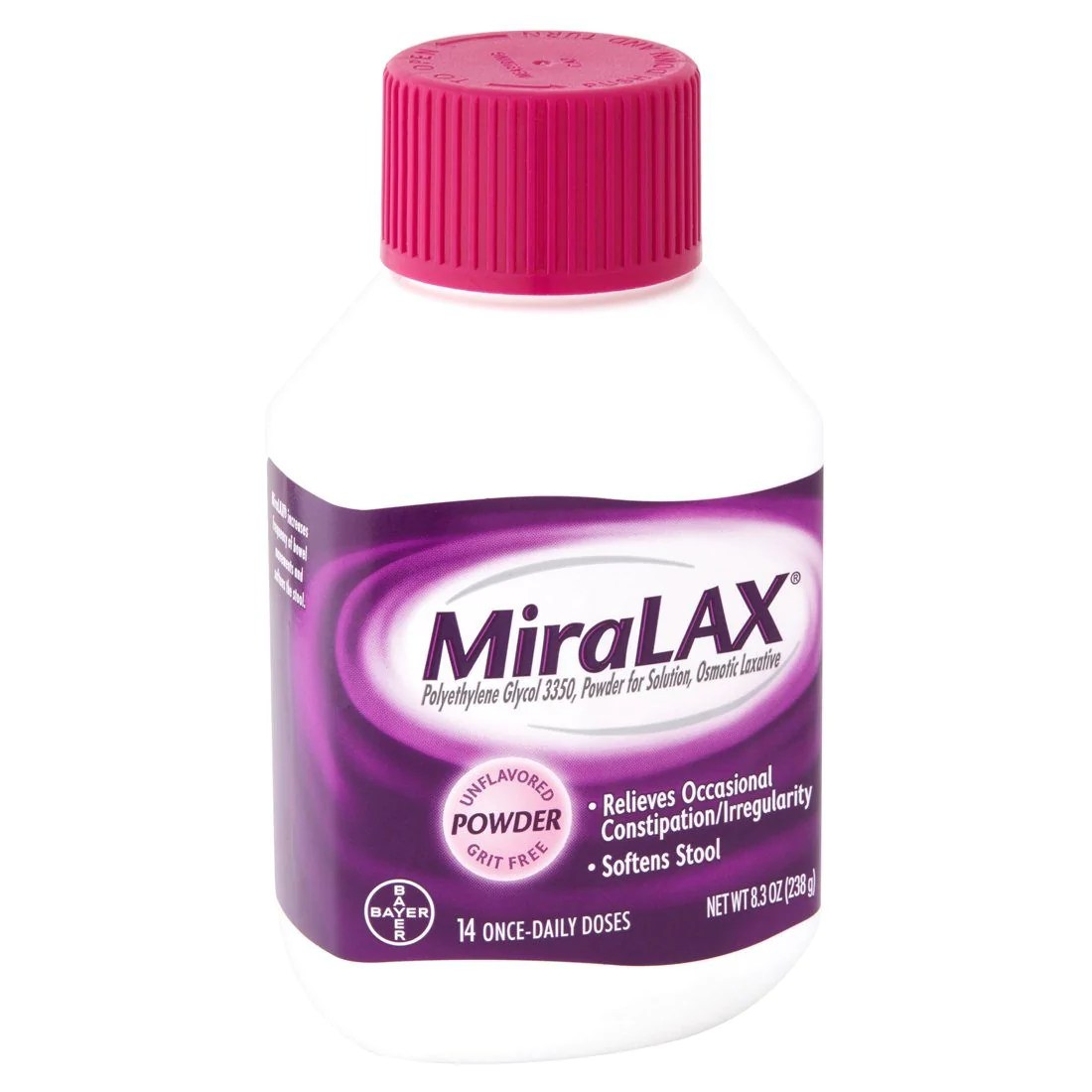MiraLAX Powder Laxative Constipation Drink 8.3 oz
