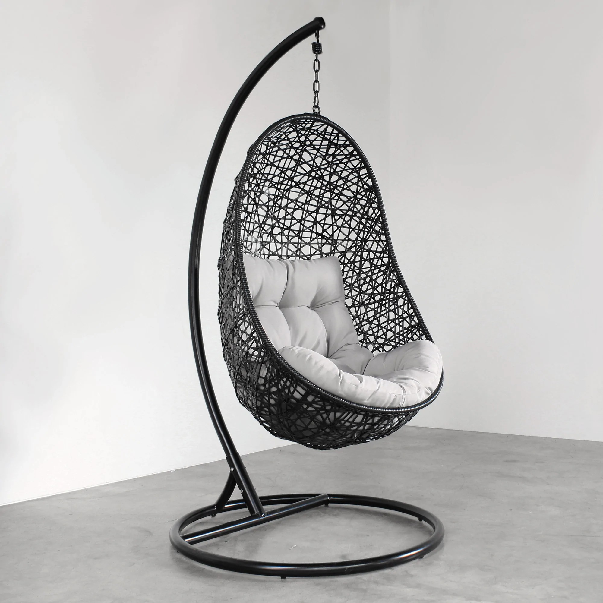 Hanging Egg Chair  Black  Tempt Interiors