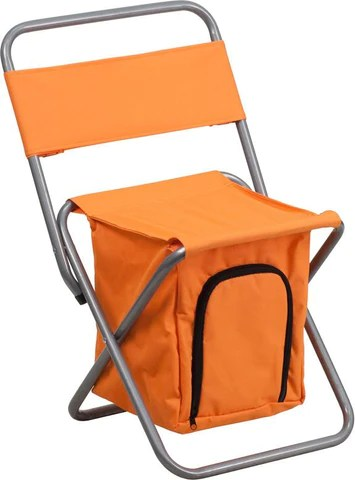 kids folding camp chair infinity massage flash furniture ty1262 or gg camping with insulated storage in orange