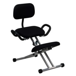Ergonomic Posture Kneeling Chair Control Room Operator Chairs With Handles In Black Wl 3439 Gg By Flash Fur Description