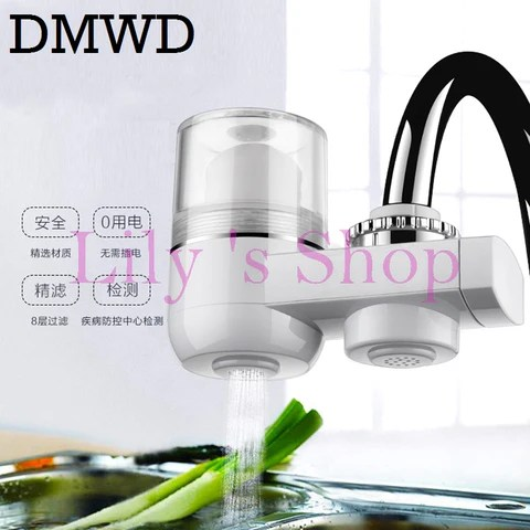 kitchen faucet filter antique cabinets for sale household water purifiers tap home washable ceramic element mini