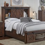 Sun Valley Rustic Timber Queen Headboard Storage Bed Sui Generis Home Furniture