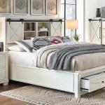 Sun Valley White California King Headboard Storage Bed Sui Generis Home Furniture