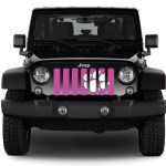 Jeep Wrangler White Tiger Paw On Hot Pink Grille Insert Dirty Acres