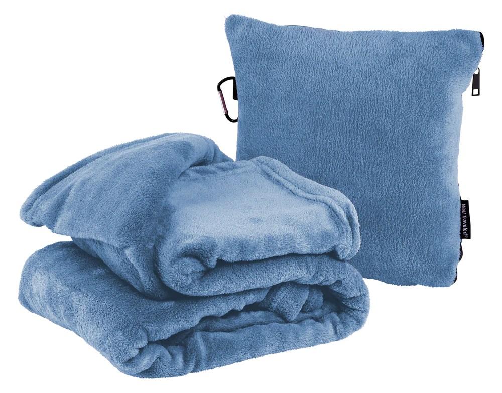 2 in 1 travel blanket pillow