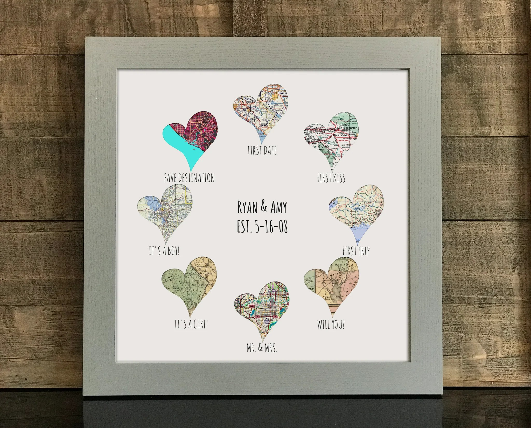 Relationship Goals Print 8 Personalized Heart Maps