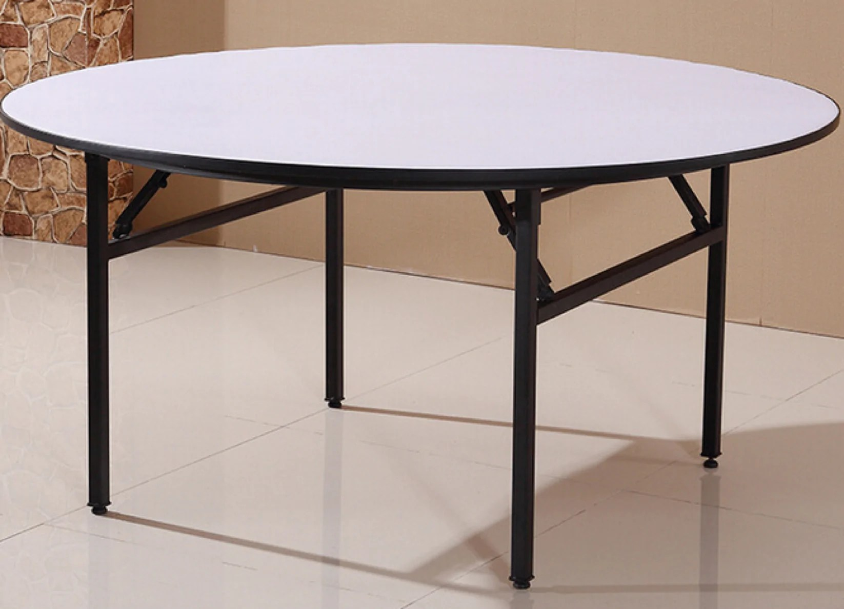 5 Foot Dining Table With Elegant White Leather Cushioned Top - Royal Luxury Events & Rentals
