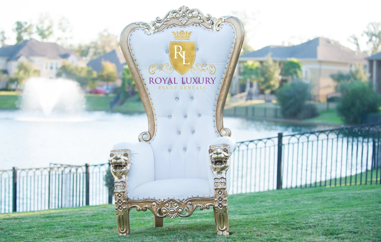 Royal Chair Rental Royal Lion Gold Throne Chair With Ivory Leather Royal