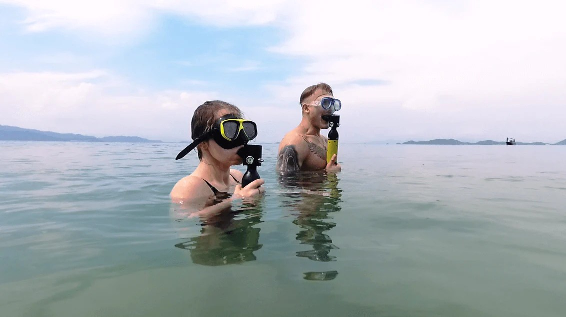 6 in 1 Diving System pump-up diving device lets you breathe underwater for  10 minutes