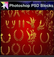 ★Photoshop PSD Decorative Elements