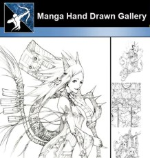 ★ Anime and Manga Hand Drawn Gallery
