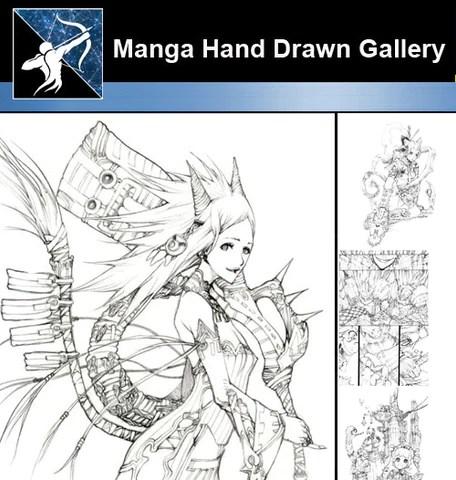 ★ Anime and Manga Hand Drawn Gallery