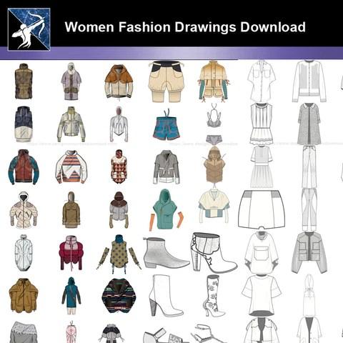 ★Women Fashion Drawings