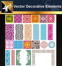 ★Free Vector Decoration Design Elements