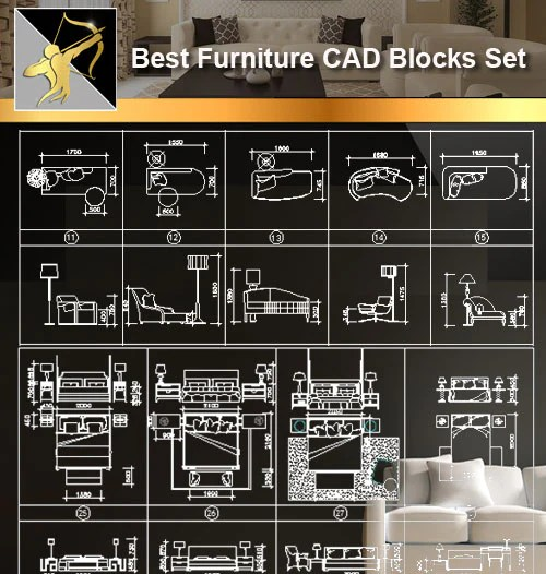 ☆Interior Design CAD Blocks -Furniture CAD blocks set