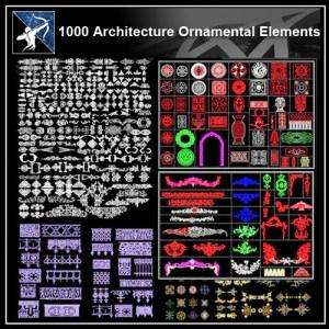 ★【1000 Architecture Ornamental Elements】
