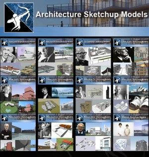 ★Total 107 Pritzker Architecture Sketchup 3D Models★ (Best Recommanded!!)