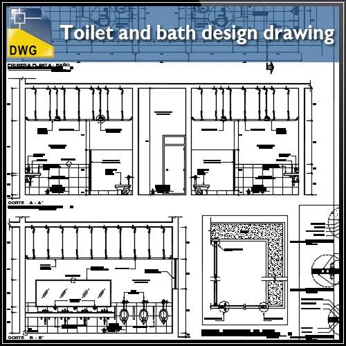 Toilet Autocad Drawings Blocks Details