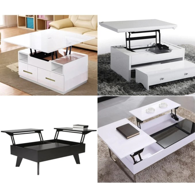 1Pair Lift Up Top Coffee Table Lifting Frame Mechanism