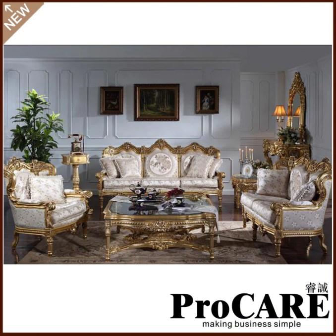 European Style Sofa Set Living Room Furniture Free Cad