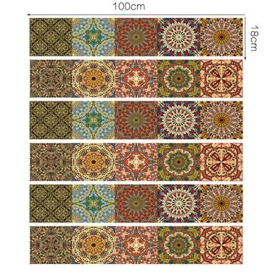 adhesive mural motif arabesque oriental en vinyl