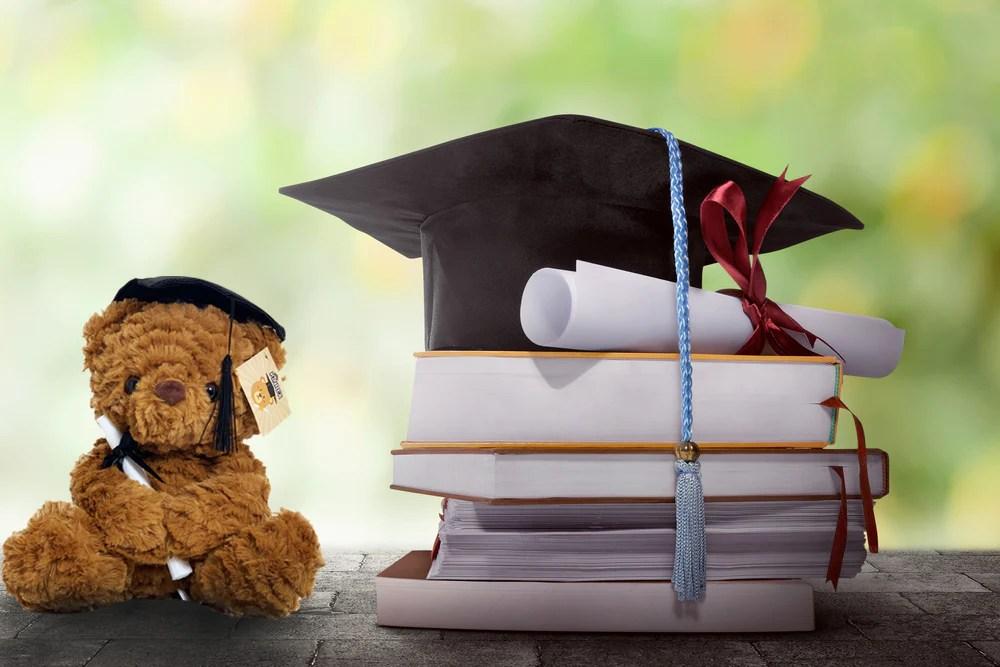 graduation plush teddy bear