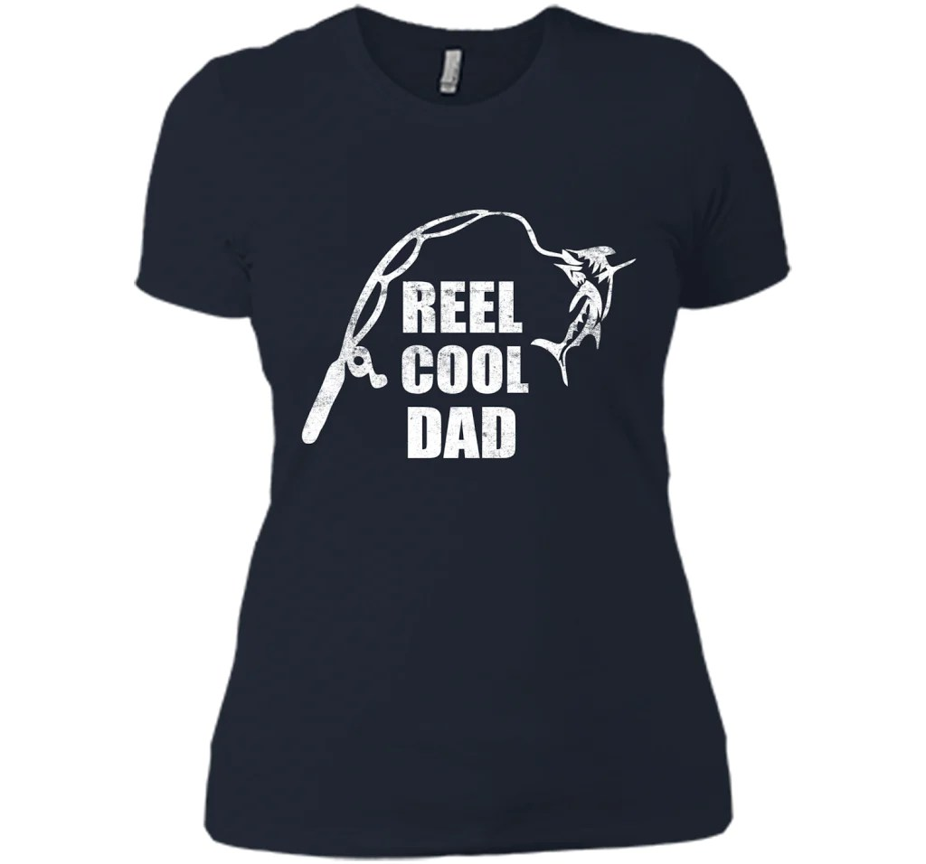 Reel Cool Dad Vintage Fishing Design Grandparents Day