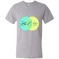 Platypus Venn Diagram Shark Food Chain Keytar Tshirt New Wave Tee