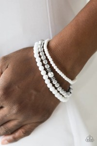 "Paparazzi ""Midsummer Marvel"" White and Silver Bead ..."