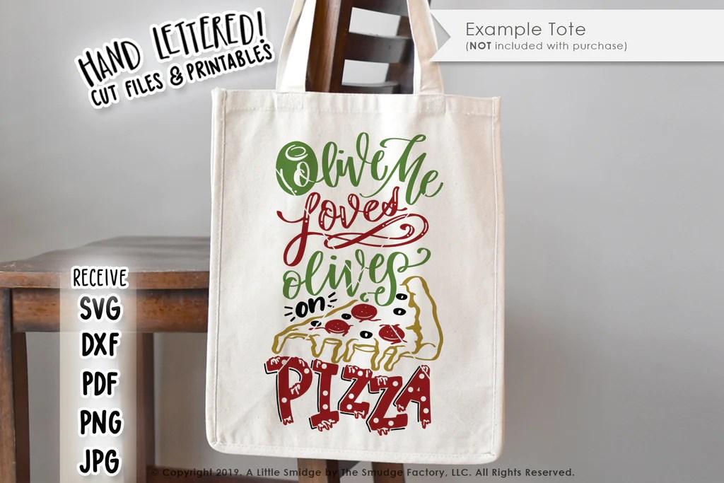 Download Olive Me Loves Olives On Pizza SVG & Printable - The ...