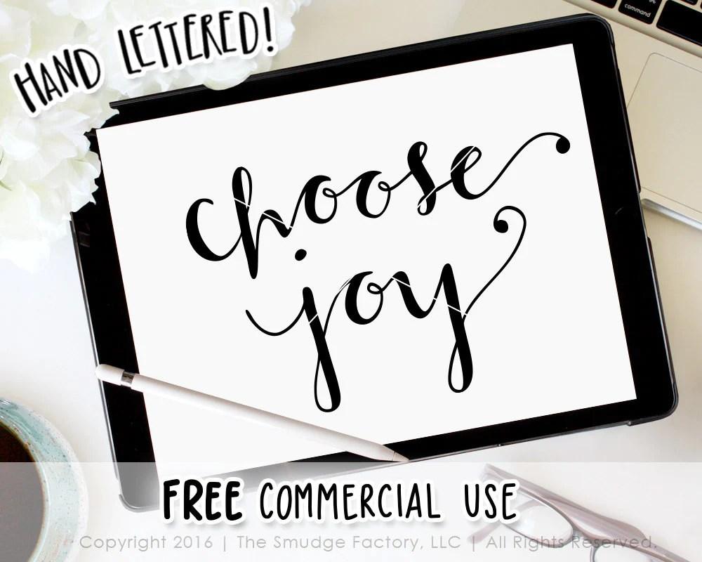 Download Choose Joy SVG & Printable - The Smudge Factory