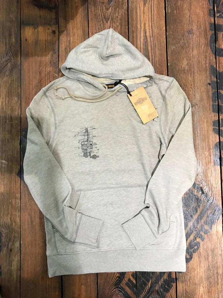 medium resolution of harley davidson men s schematic slim fit pullover hoodie 96257 18vm 1903 collection
