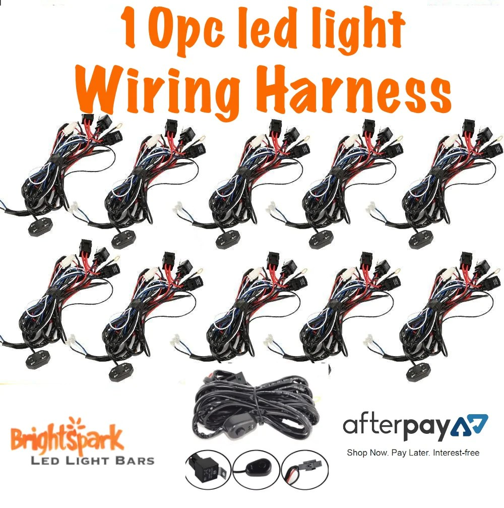 10pc led light bar wiring harness brightsparkledco  [ 1000 x 1007 Pixel ]