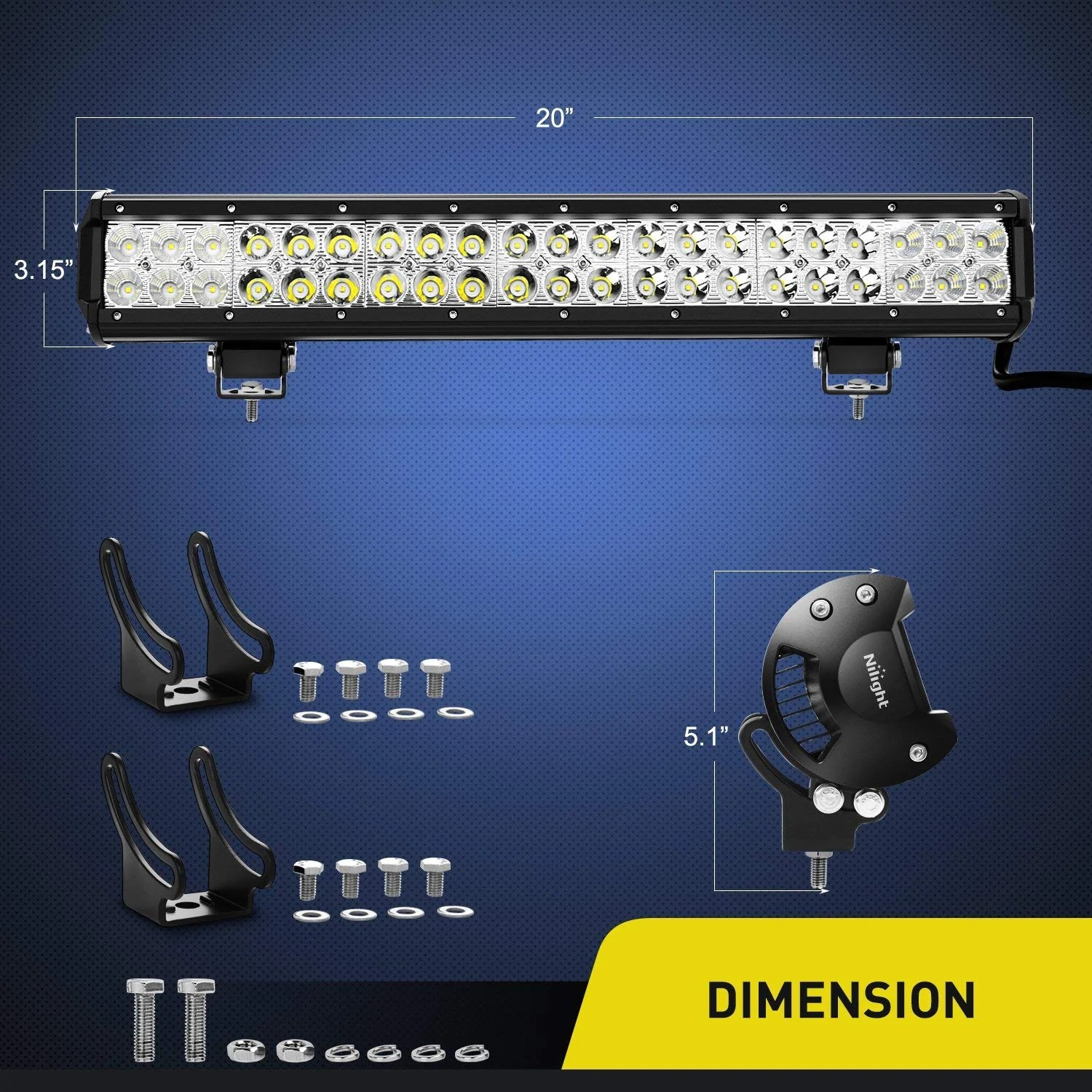small resolution of  23 228 watt cree led light bar and wiring harness brightsparkledco