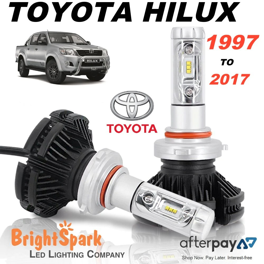 small resolution of toyota hilux led headlight conversion kit 1997 2018 brightsparkledco