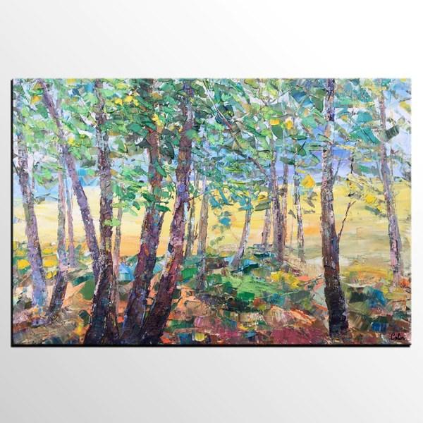 tree landscape art canvas