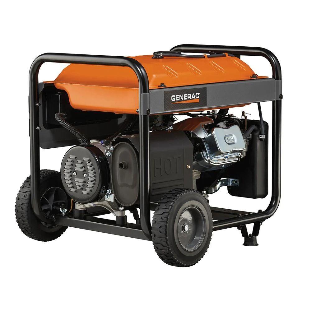 medium resolution of generac 6675 rs7000e gasoline powered electric start portable generator