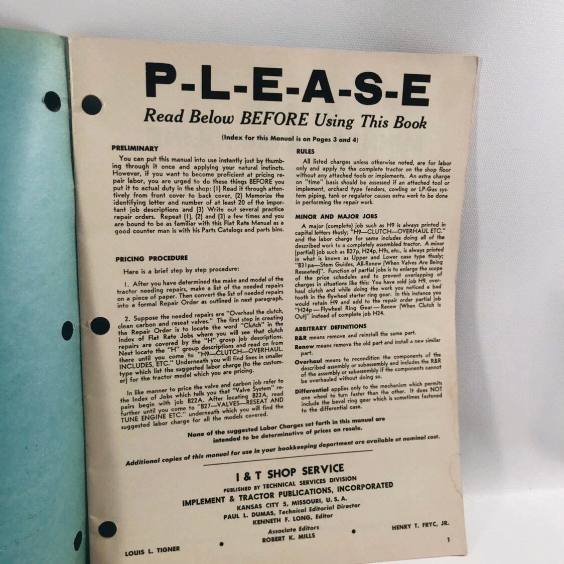 hight resolution of i t shop service flat rate manual no mm 9 minneapolis moline 1959