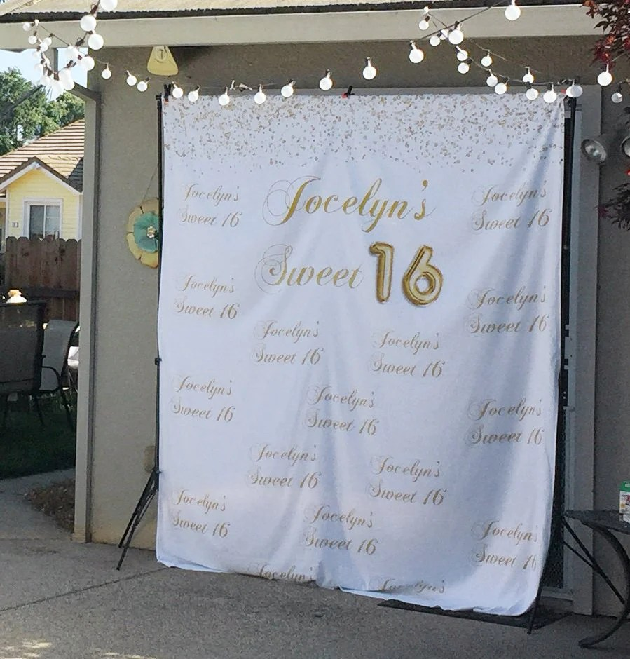 gold sweet 16 decoration
