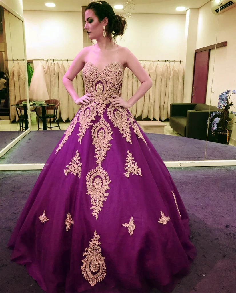 quinceanera dresses purple and