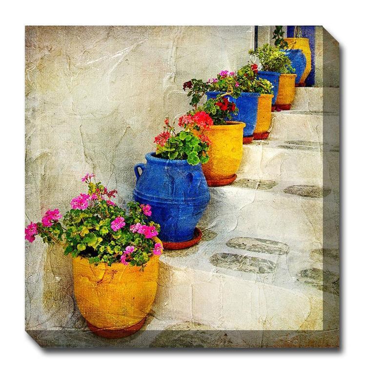 bright pots outdoor canvas