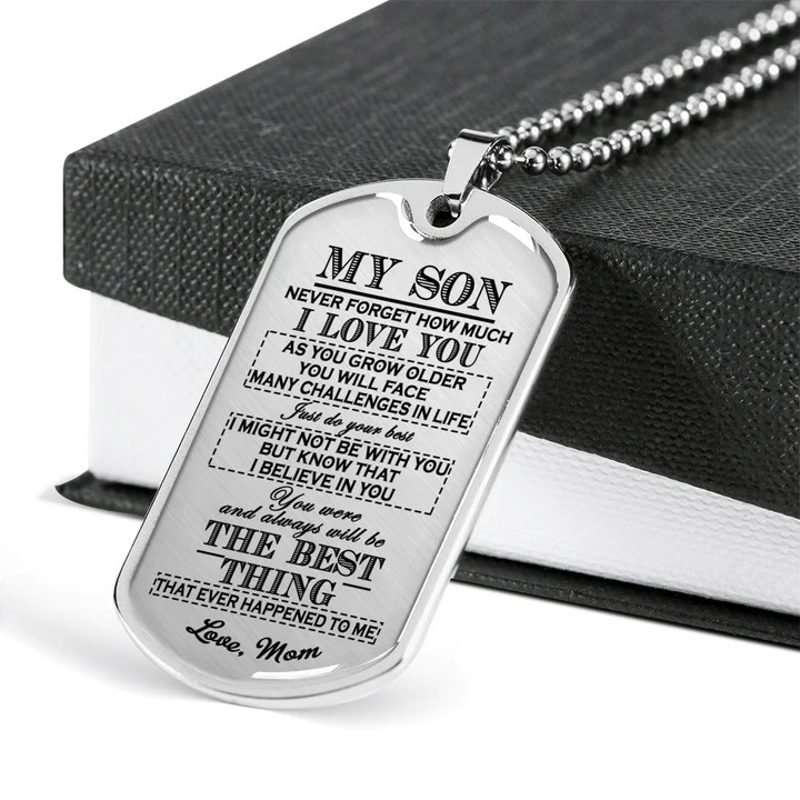 awesome quote dog tag