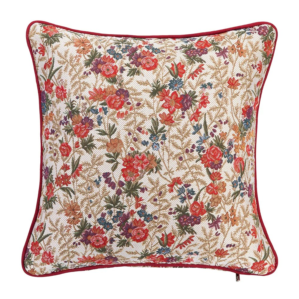 flower meadow tapestry cushion cover floral 18x18 cushion covers ccov flmd