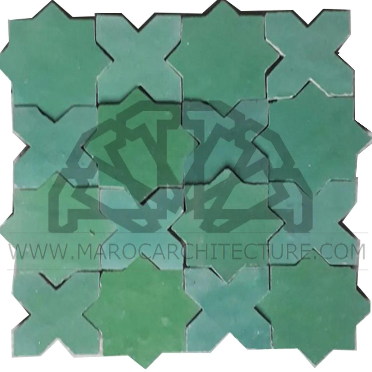star and cross zellij tile maroc architecture