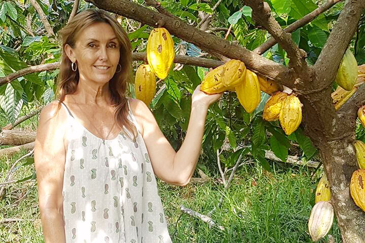 Linda Schofield and raw Cacao - Tamanu Australia