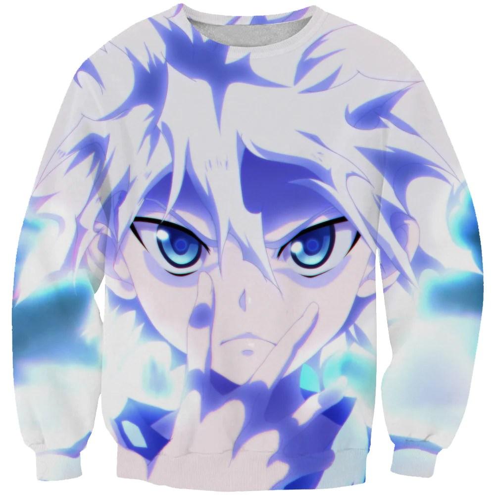 blue killua sweatshirt killua
