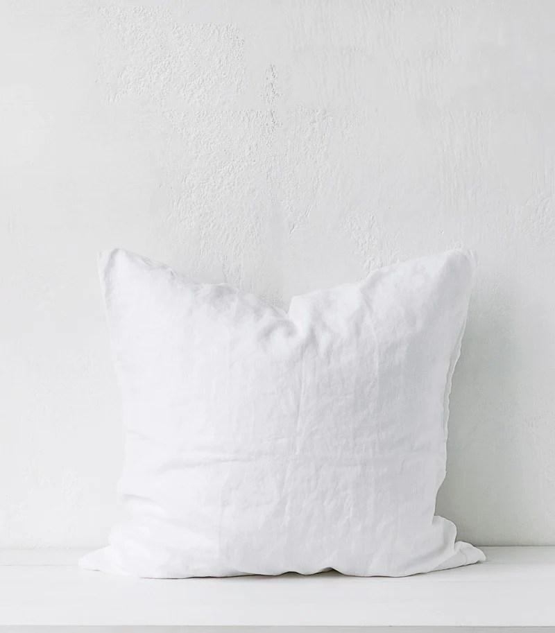 bedouin societe euro pillow case pair white