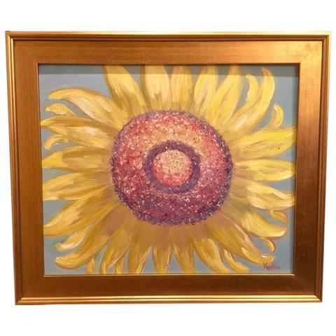 24x20 abstract sunflower kadlic