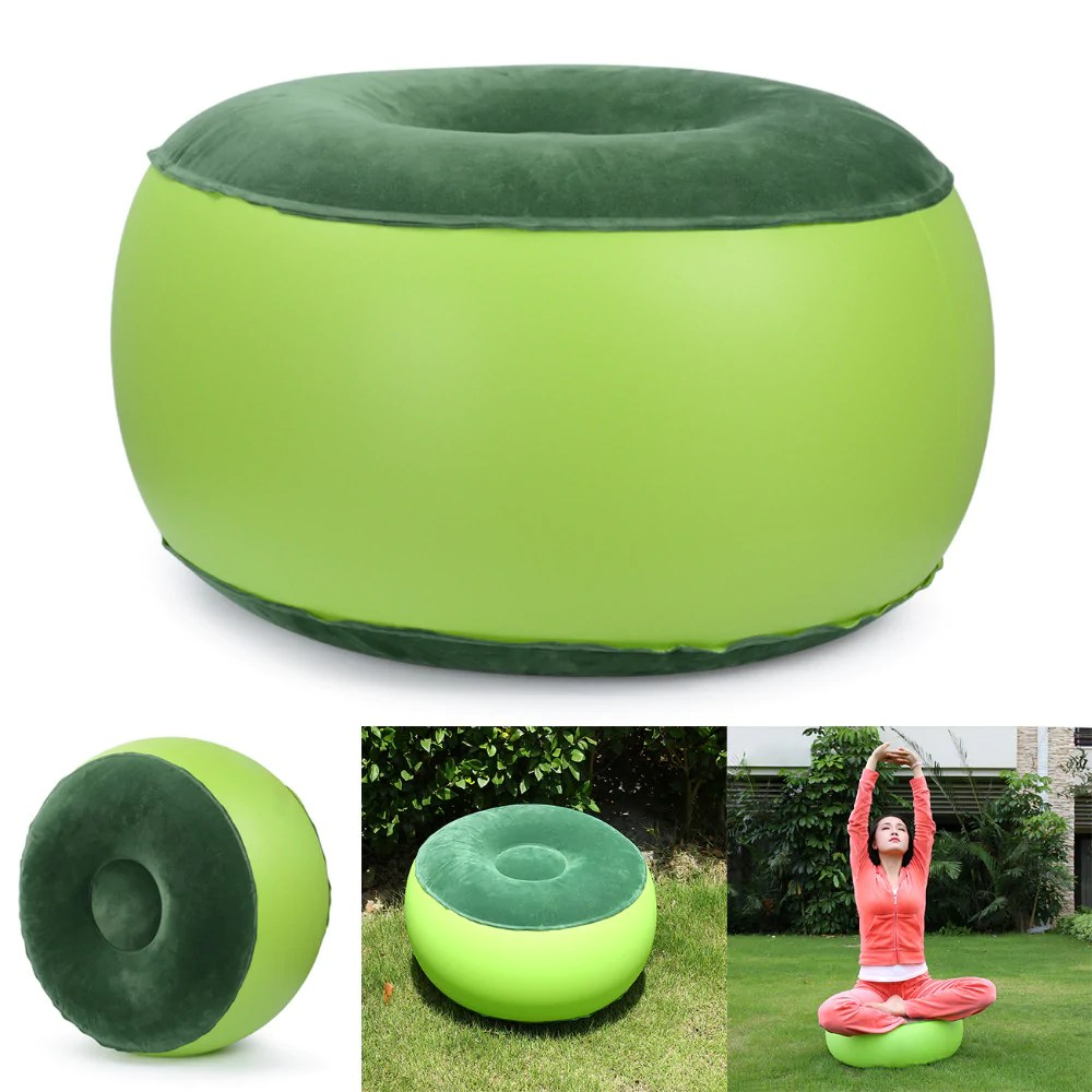 inflatable chair stool lime green desk gwf g well fitness load image into gallery viewer
