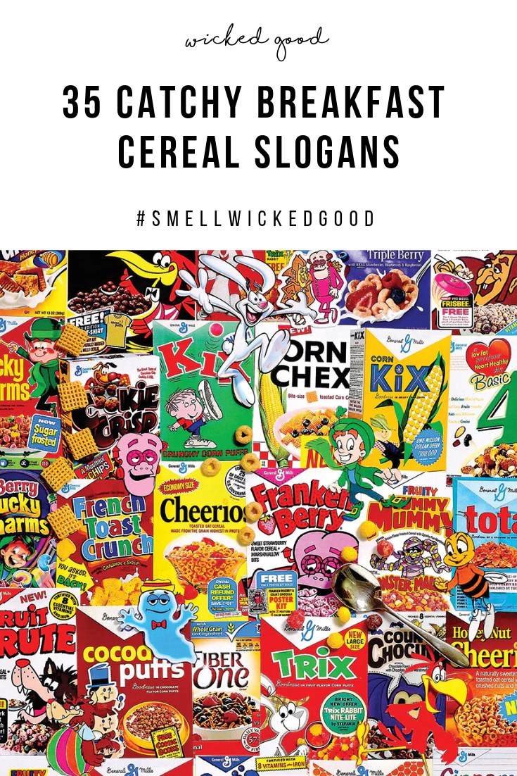 35 catchy breakfast cereal